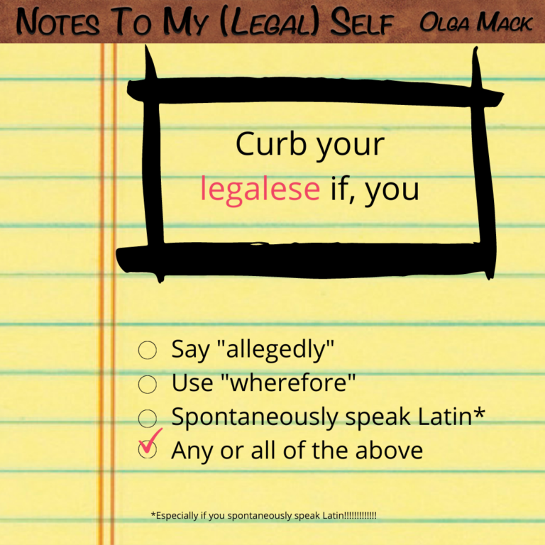 Curb Your Legalese, IG